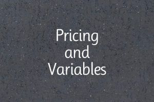 Pricing & Variables